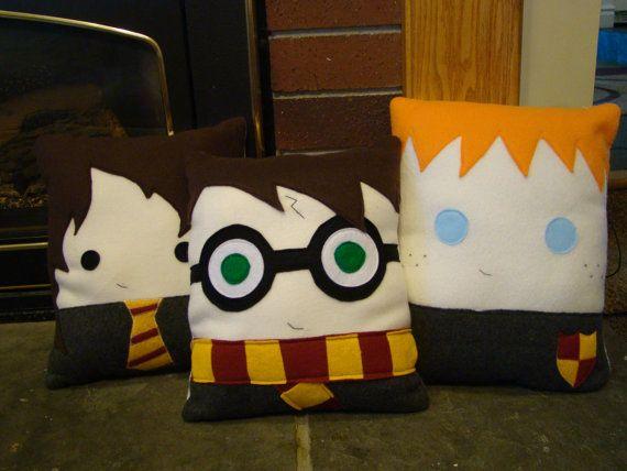 Wizard pillow, Hermione Granger, Ron Weasley,Luna Lovegood