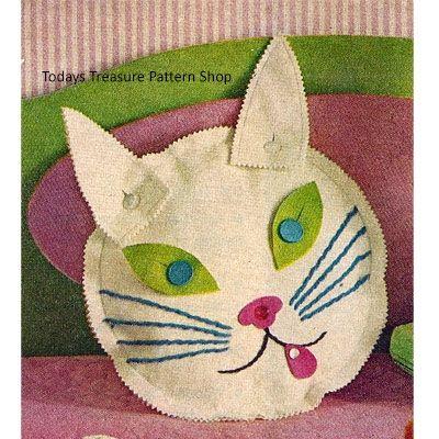 Kitty Cat Pajama Bag Vintage Sewing Pattern