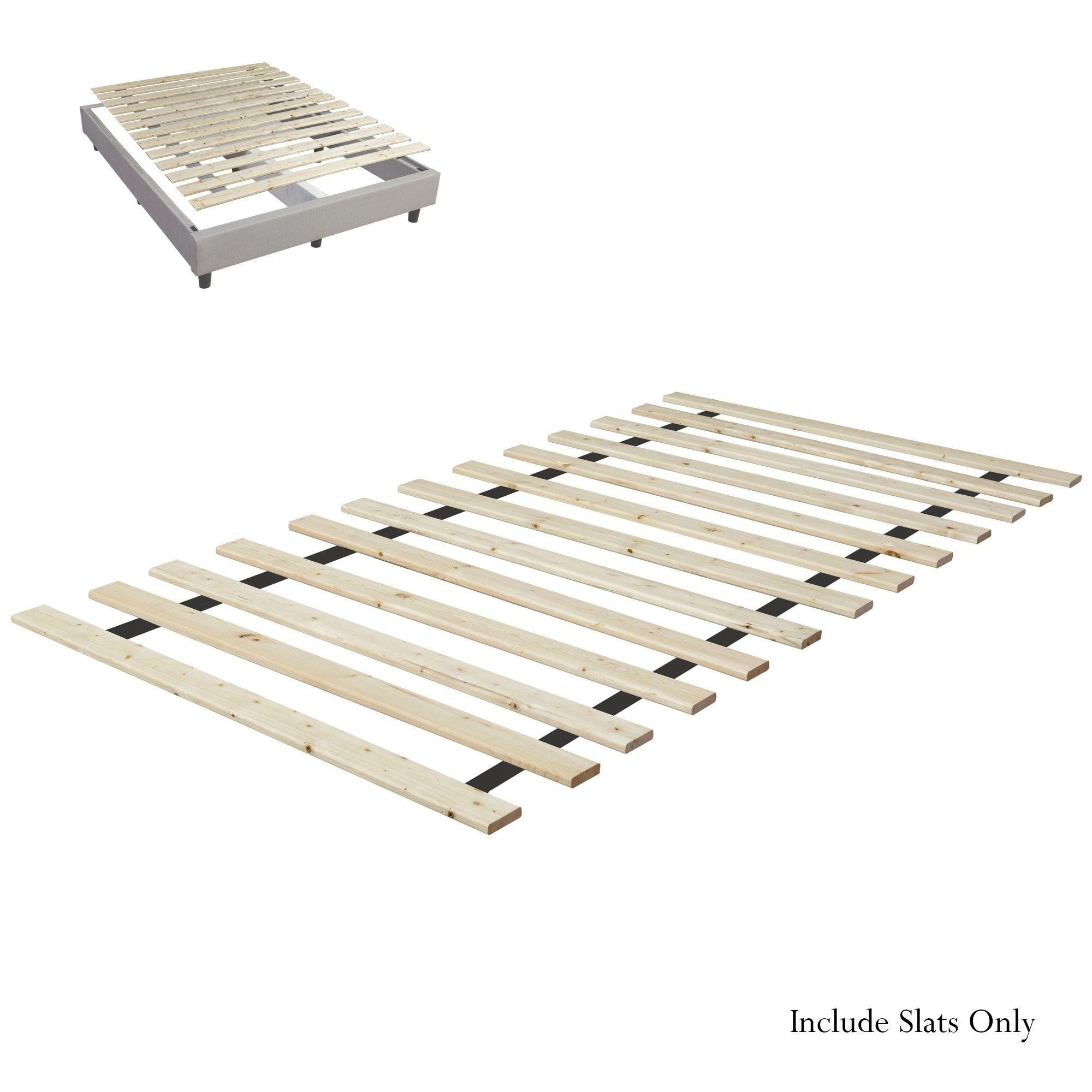 Onetan Heavy Duty Wooden Bed Slats Bunkie Board Frame King Beige Wooden Bed Slats Wooden Bed Frames Wooden Bed