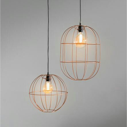 Domayne Wire Hanging Pendant Light Copper