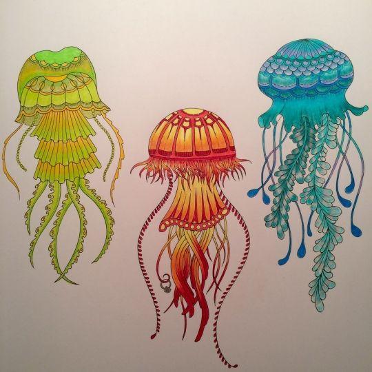 Coloring Books Adult Pages Zentangle Art Ideas Johanna Basford Amazing Eyes Inspiring Jellyfish