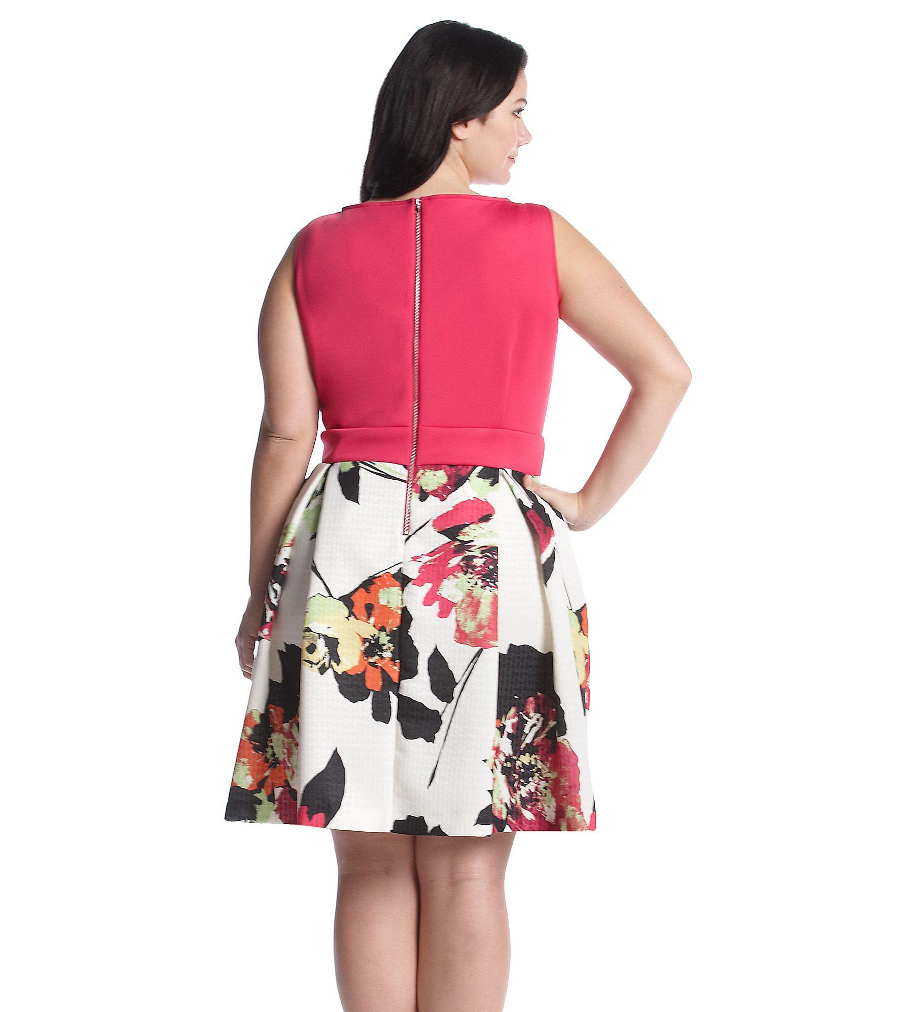 Gabby Skye® Plus Size Scuba Floral Skirt Dress | Emma Meyer (Bon-Ton ...