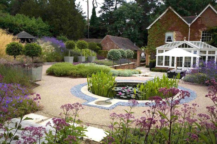 gartengestaltung mit kies gartenteich landschaftsarchitekt anthony, Gartenarbeit ideen