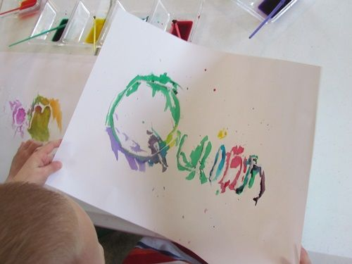 Our Names In Watercolor Preschool Themes Abc Phonics