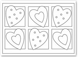Valentine Coloring Pages Valentines Day Hearts