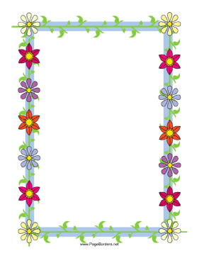 This Floral Border Includes Several Brightly Colored Flowers Straight From  The Garden. Free To Download · Floral BorderMicrosoft WordCraft ...  Downloadable Page Borders For Microsoft Word