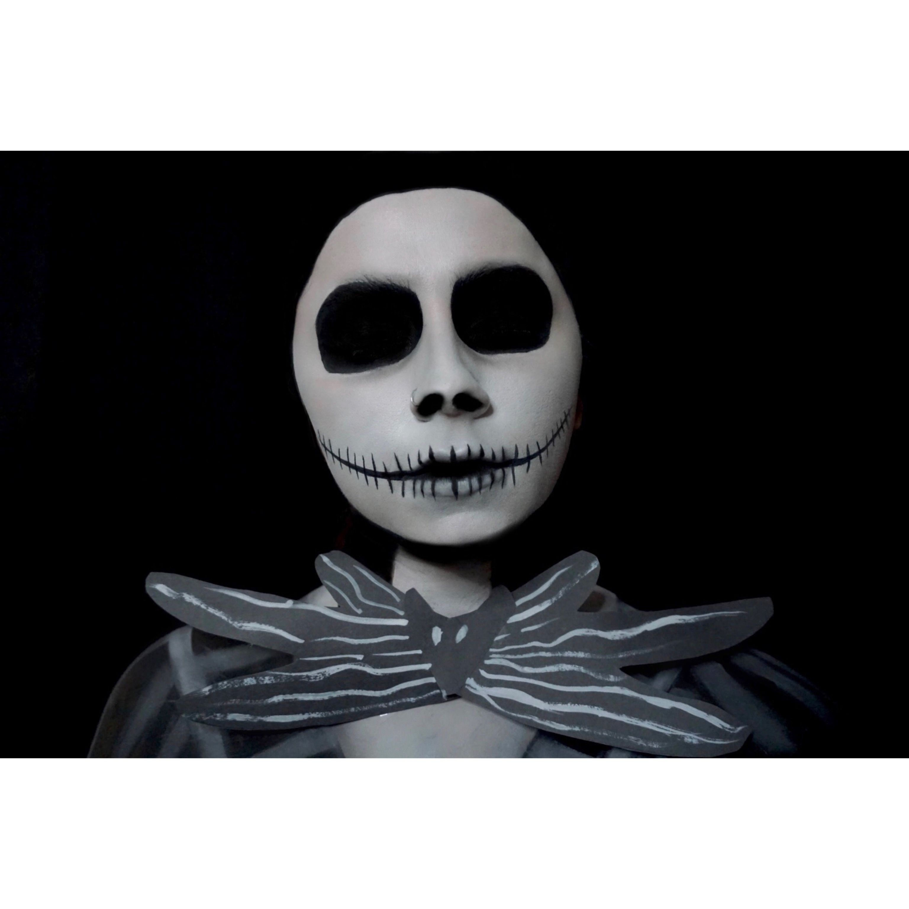 Jack Skellington makeup Halloween face makeup, Face