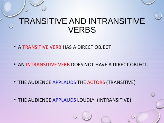 Transitive Verb Examples Google Search Class Is In Session