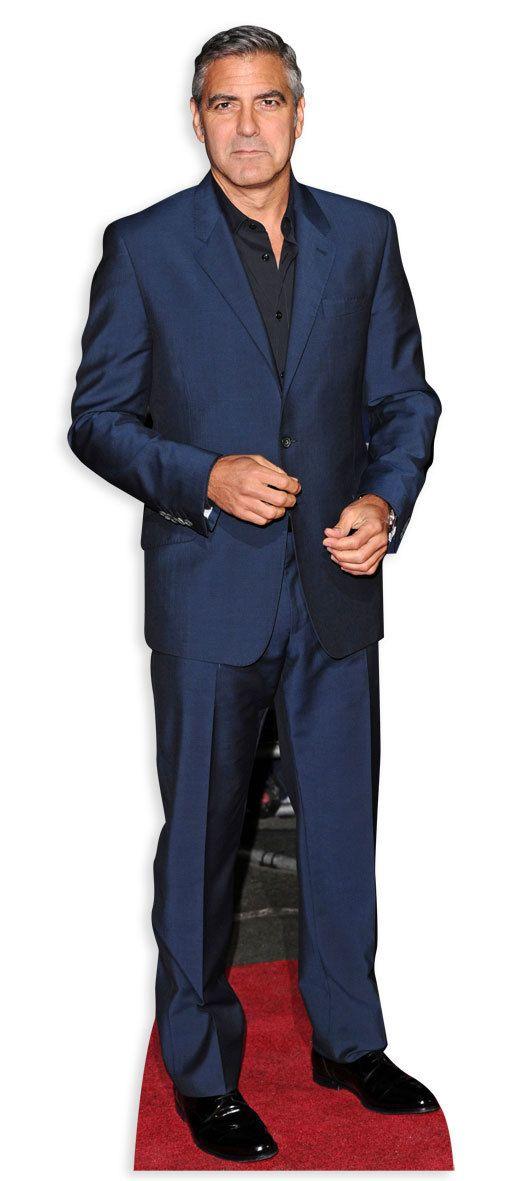 George Clooney Lifesize Cardboard Cutout Standee Standup Cardboard Cutout Hollywood Party Cutout