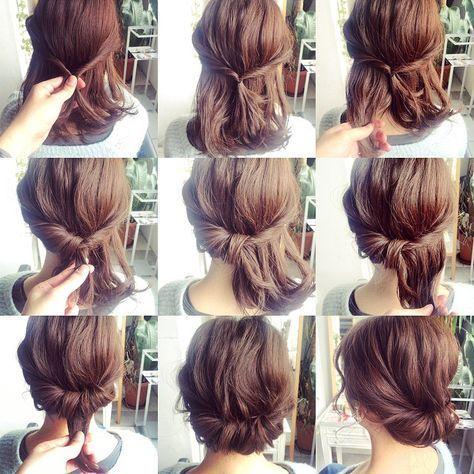 Einfache Frisuren Fur Schulterlange Haare Frisur Hochgesteckt Flechtfrisuren Hochsteckfrisur