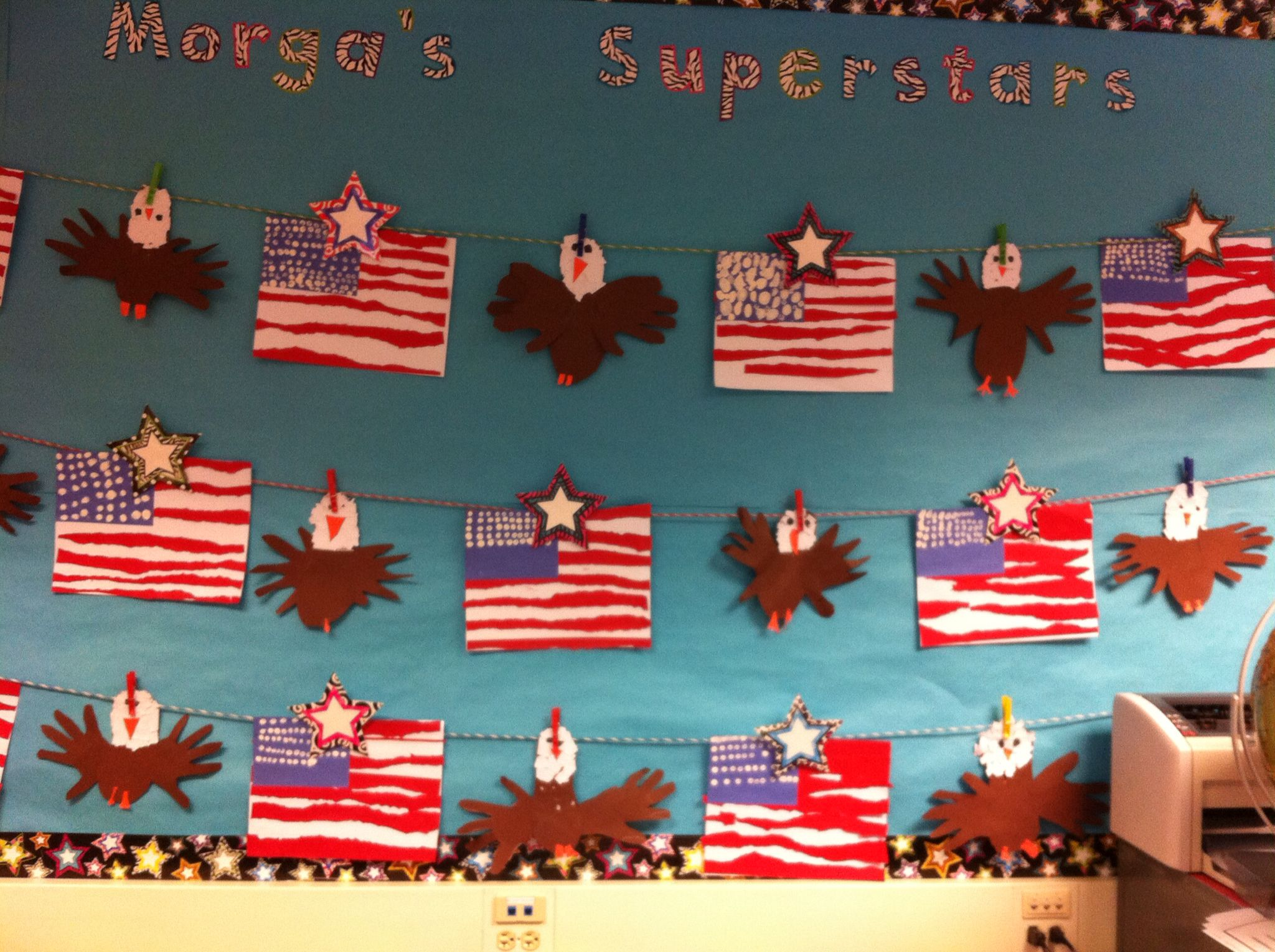 Torn Paper Art American Flags And Bald Eagles Made With