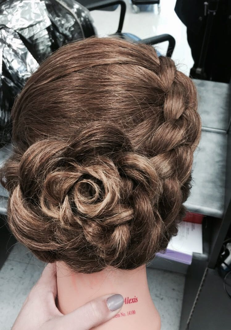 Braided floral updo all things hair pinterest updo