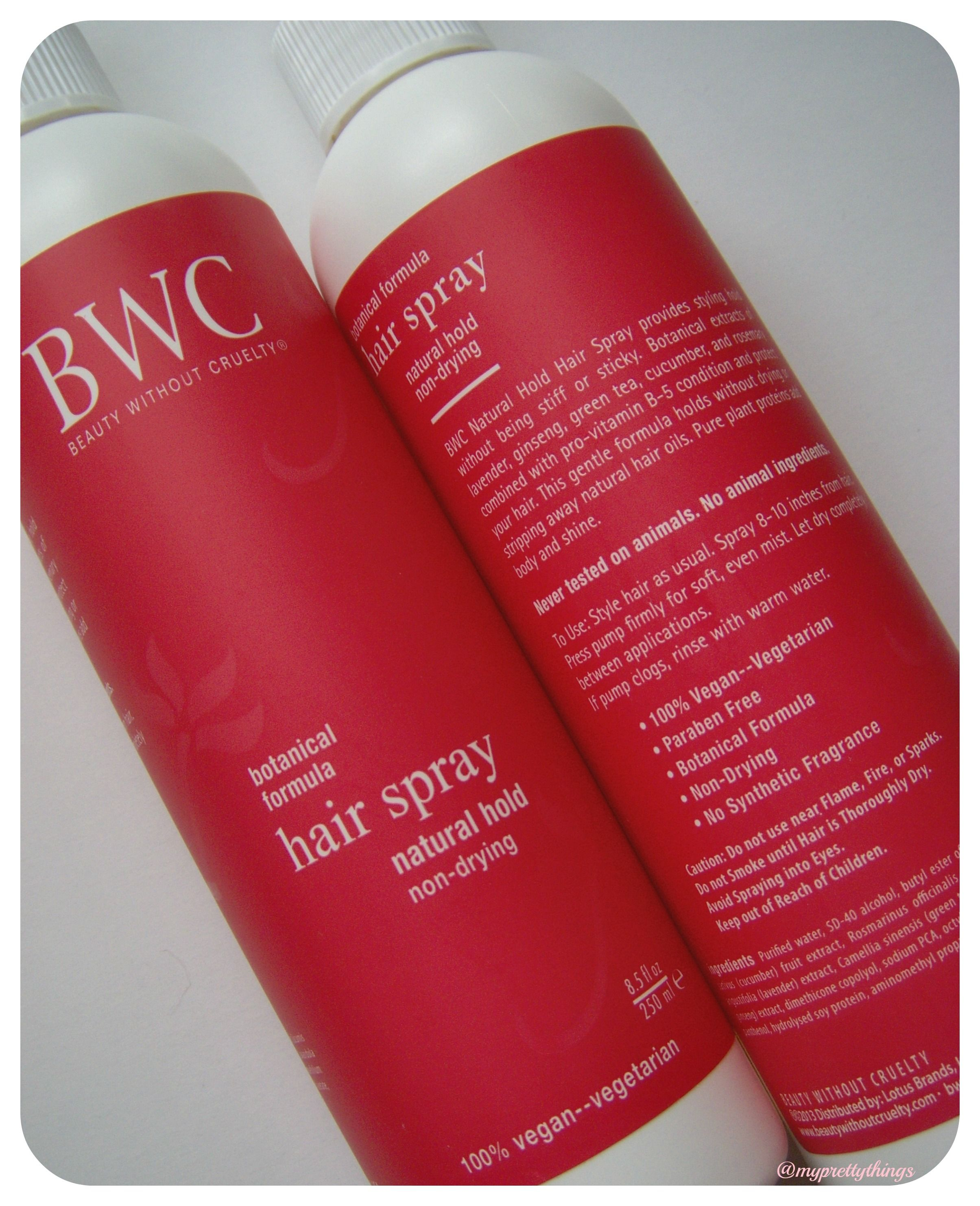 The Beautywithoutcruelty Natural Hold Hairspray Works Really Well With My Long Hair Bwc Haircare Beauty Without Cruelty Cruelty Free Beauty Vegan Beauty