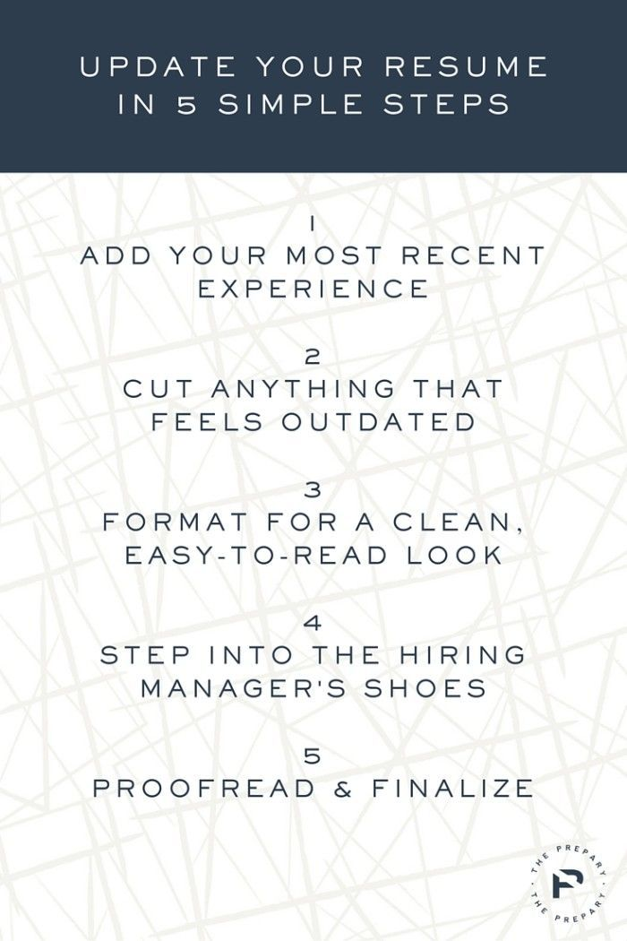 How to update your resume in 5 simple steps Pinterest Resume