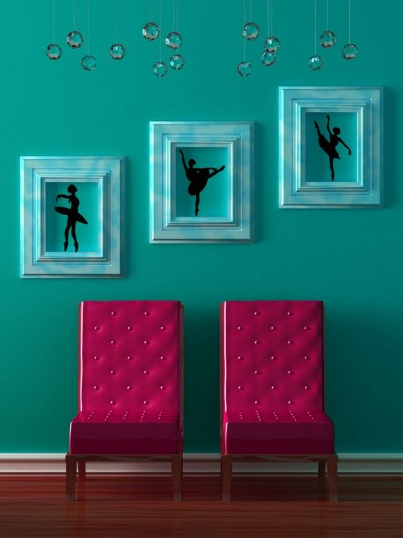 Ballet Wall Decal Set Of 3 Ballerina Wall Art Ballet