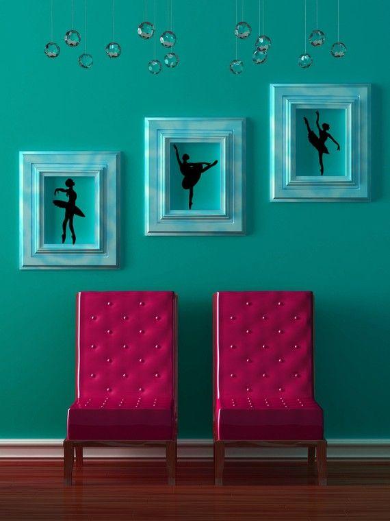 Bedroom Wall Decor Sets : Girls dance bedroom on