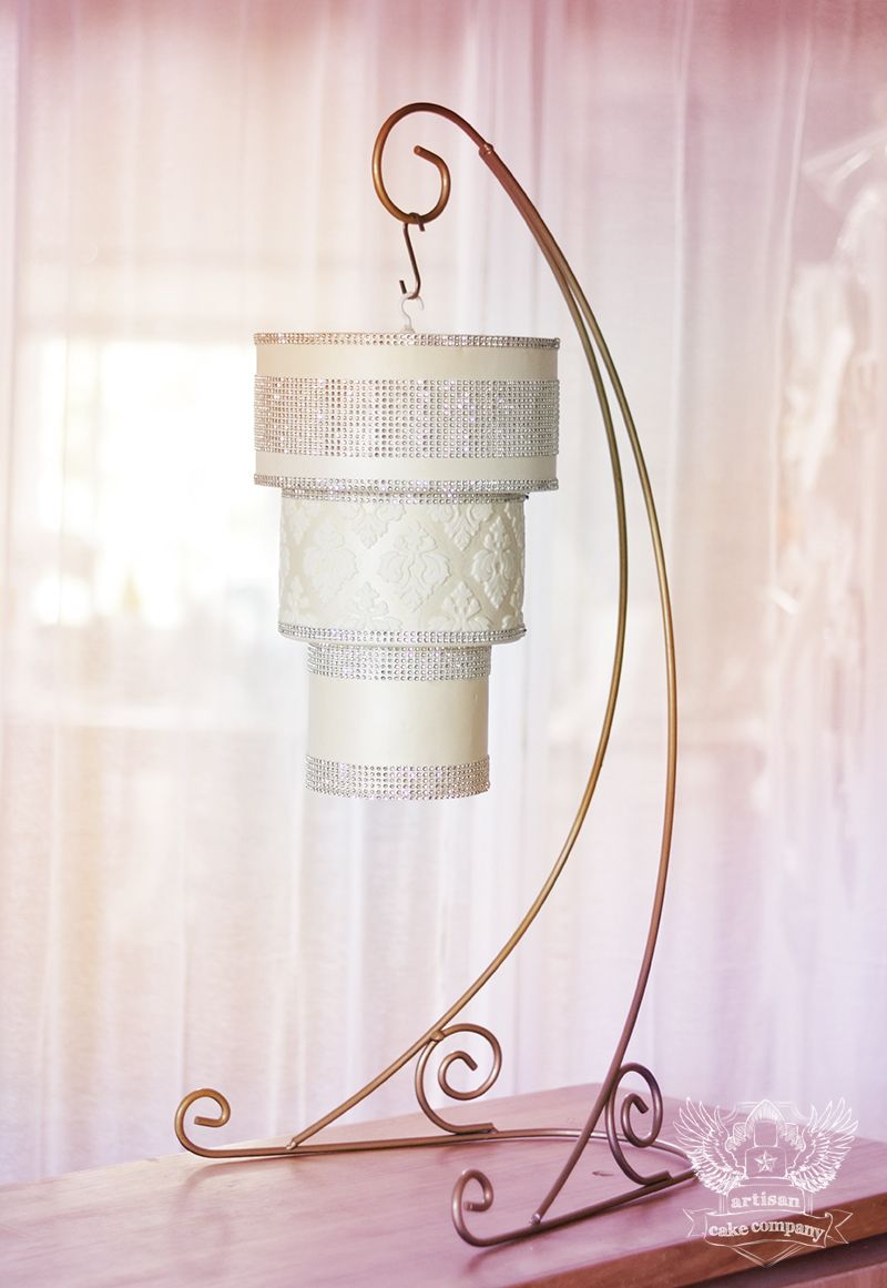 How to make a hanging chandelier cake with artisan cake company how to make a hanging chandelier cake with artisan cake company and avalon cakes arubaitofo Image collections