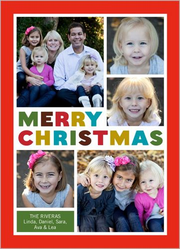 Blessed Blocks 5x7 Photo Card by Shutterfly Christmas Cards