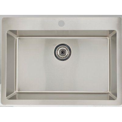Avanities 25 X 22 Drop In Laundry Sink Single Bowl Kitchen