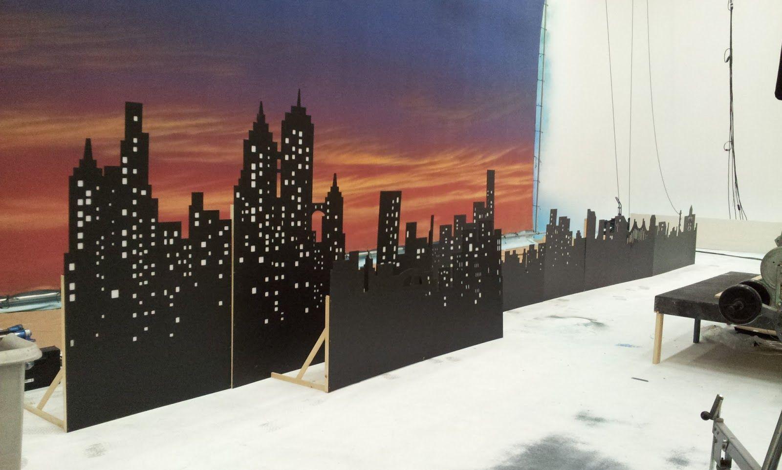 mdf cutouts Google Search City backdrop, Prom decor