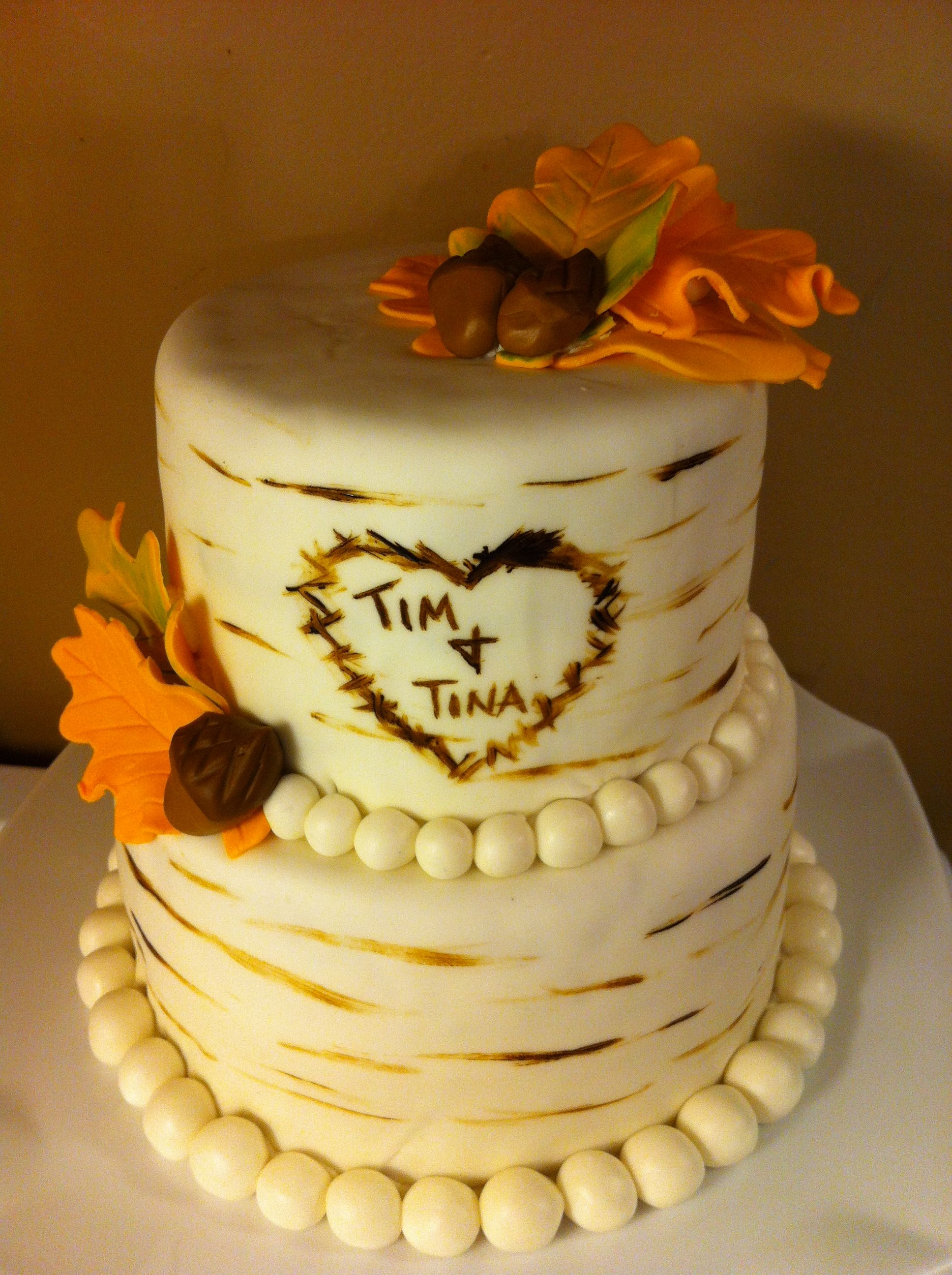 Country/ fall themed wedding cake | Cakes by Meridyth | Pinterest ...