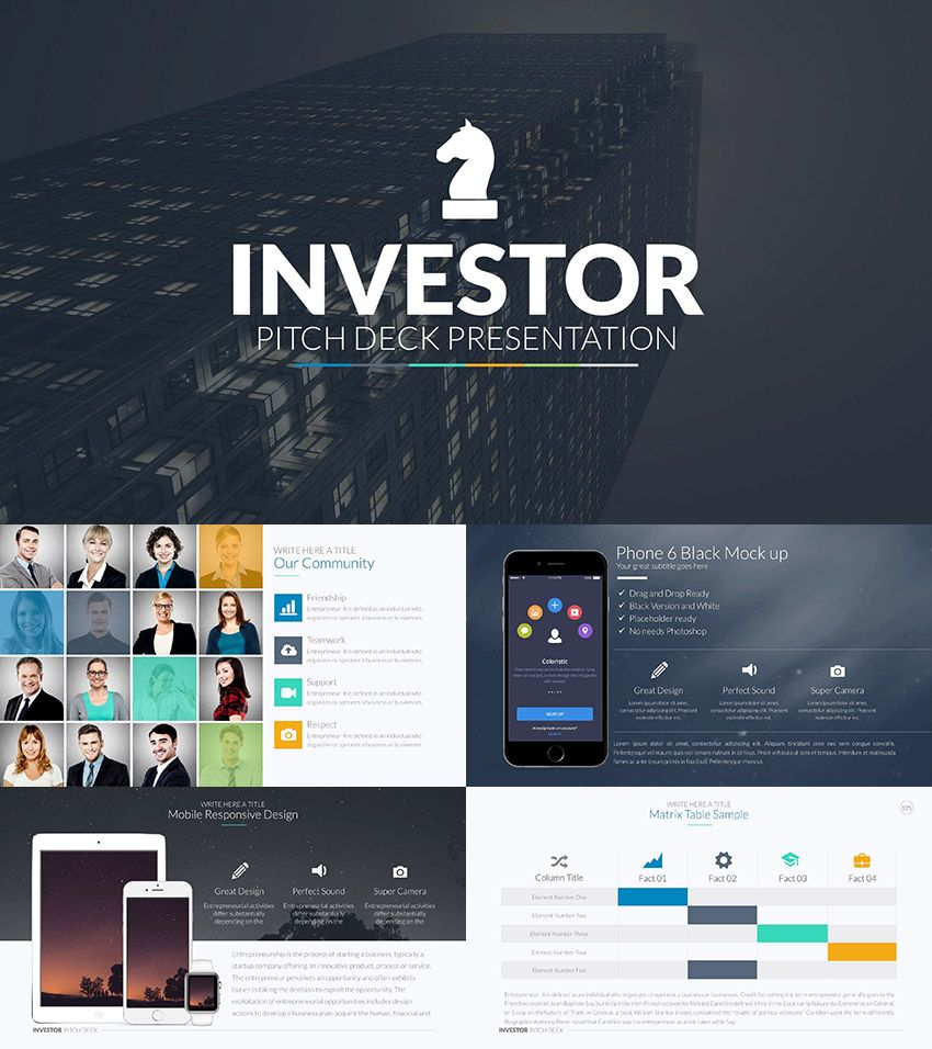 Investor Pitch Deck PowerPoint Template Business pitch
