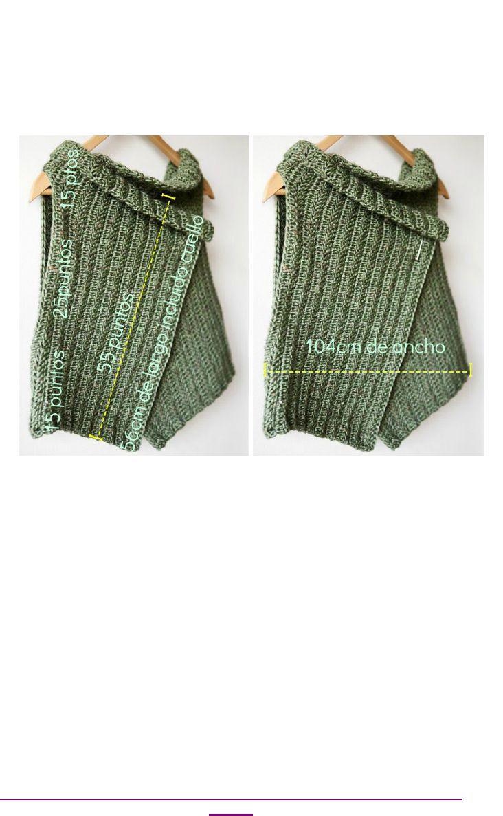 Patrón chaleco (español) | Scribd | Crochet | Pinterest | Blusas ...