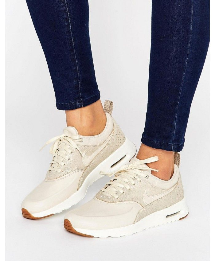 on sale 751c1 8882b Nike Air Max Thea Trainers In Beige