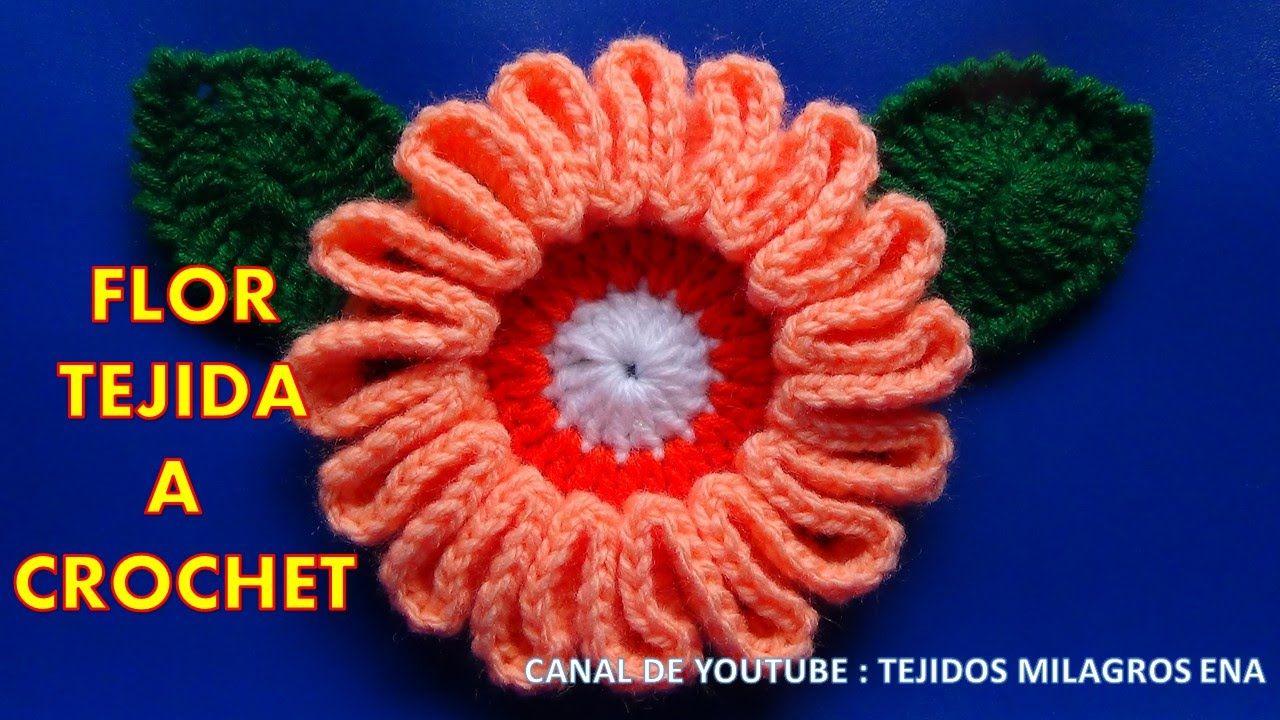 Flor # 9 tejida a gancho fácil y rápido para tejer | örgüler ...