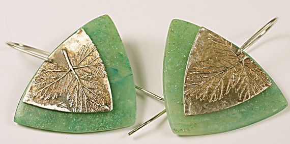 Patty Kimle - good use of polymer & silver clay together; why not try all polymer with silver leaf?