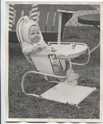 Cute Baby Child In Teeter Babe Jumper 1953 Mid Century