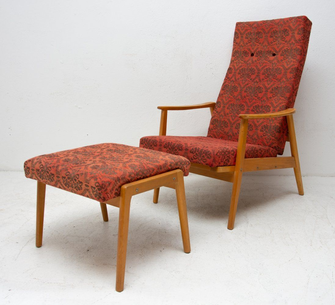 For Sale Adjustable Armchair With Footrest From Ton 1960s Foot Rest Armchair Soto Chair