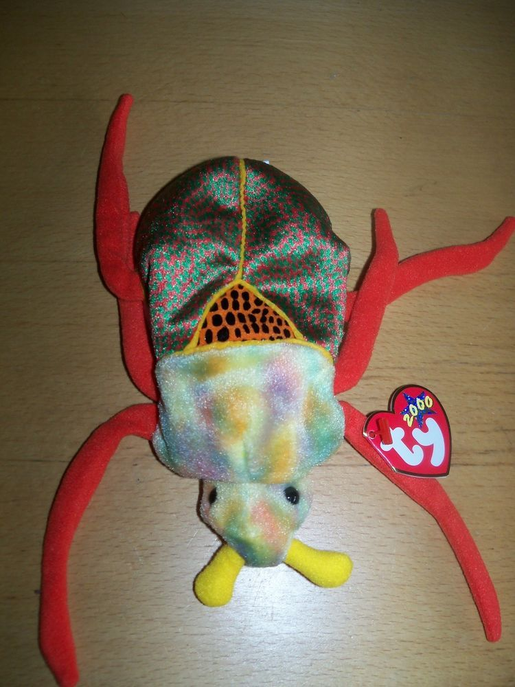 """Plush BUG insect NWT ty 2000 stuffed animal 6"""" (With"""