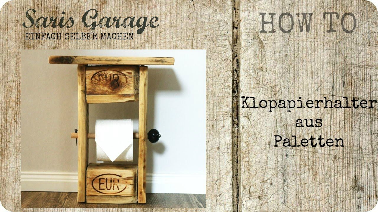 toilettenpapierhalter aus paletten upcycling diy klopapierhalt upcycling do it yourself. Black Bedroom Furniture Sets. Home Design Ideas