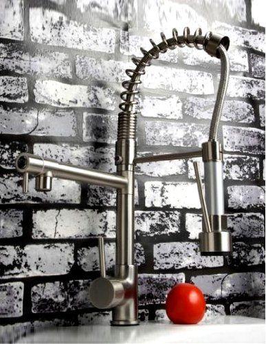 Ouku® Deck Mount Kitchen Sink Faucet Swivel Two Spout Tall ...