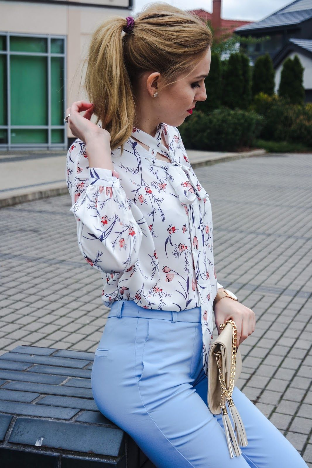 Cygaretki Koszula Stylizacje Elegancja Long Sleeve Blouse Fashion Women S Top