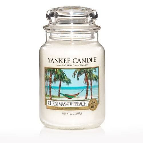 $23.98-$25.99 Christmas at the beach 22 oz. Yankee Candle is a tropical holiday escape with this bright, festive blend of pineapple, coconut and cilantro. This long-burning candle delivers 110-150 hours of enjoyment and makes an ideal gift for any occasion!