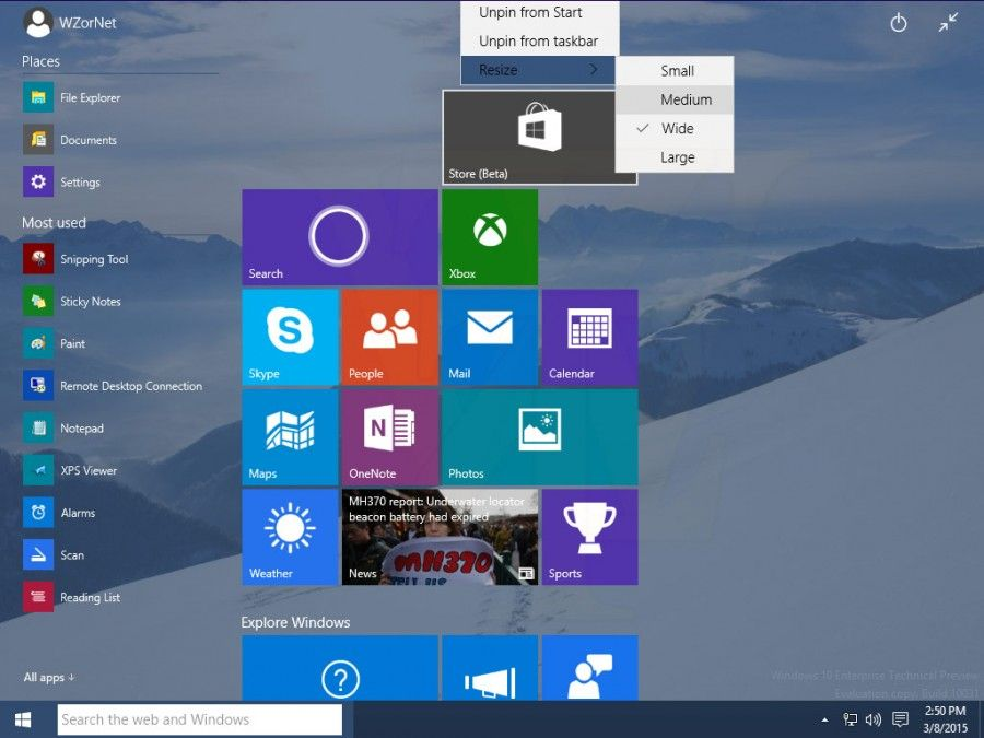 Windows 10 build 10031 screenshots show more of what to