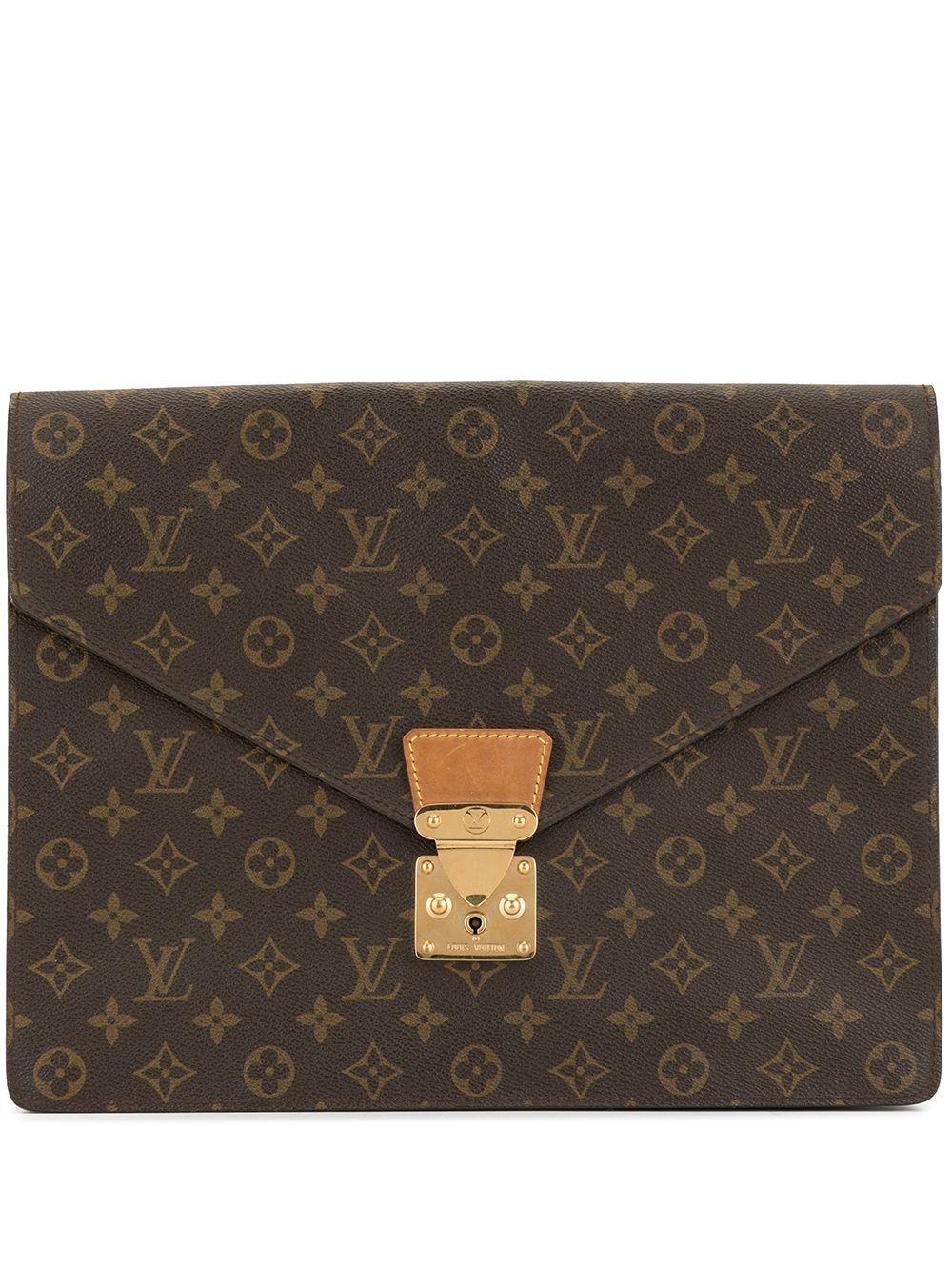 Louis Vuitton 1990s Pre Owned Monogram Envelope Clutch Farfetch In 2020 Louis Vuitton Vuitton Vintage Louis Vuitton