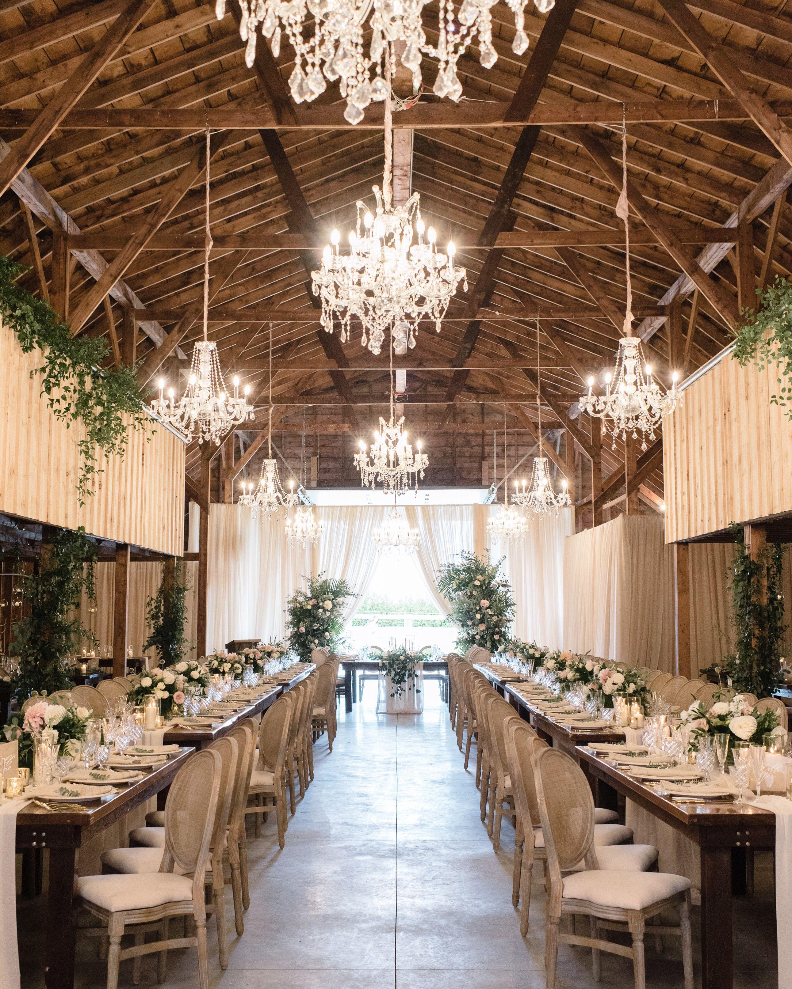 Barn Wedding Reception Decor: Barn Wedding Reception In 2019