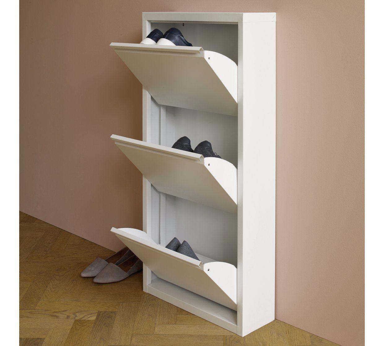 Buy Habitat Daxton 3 Shelf Metal Shoe Storage White Shoe