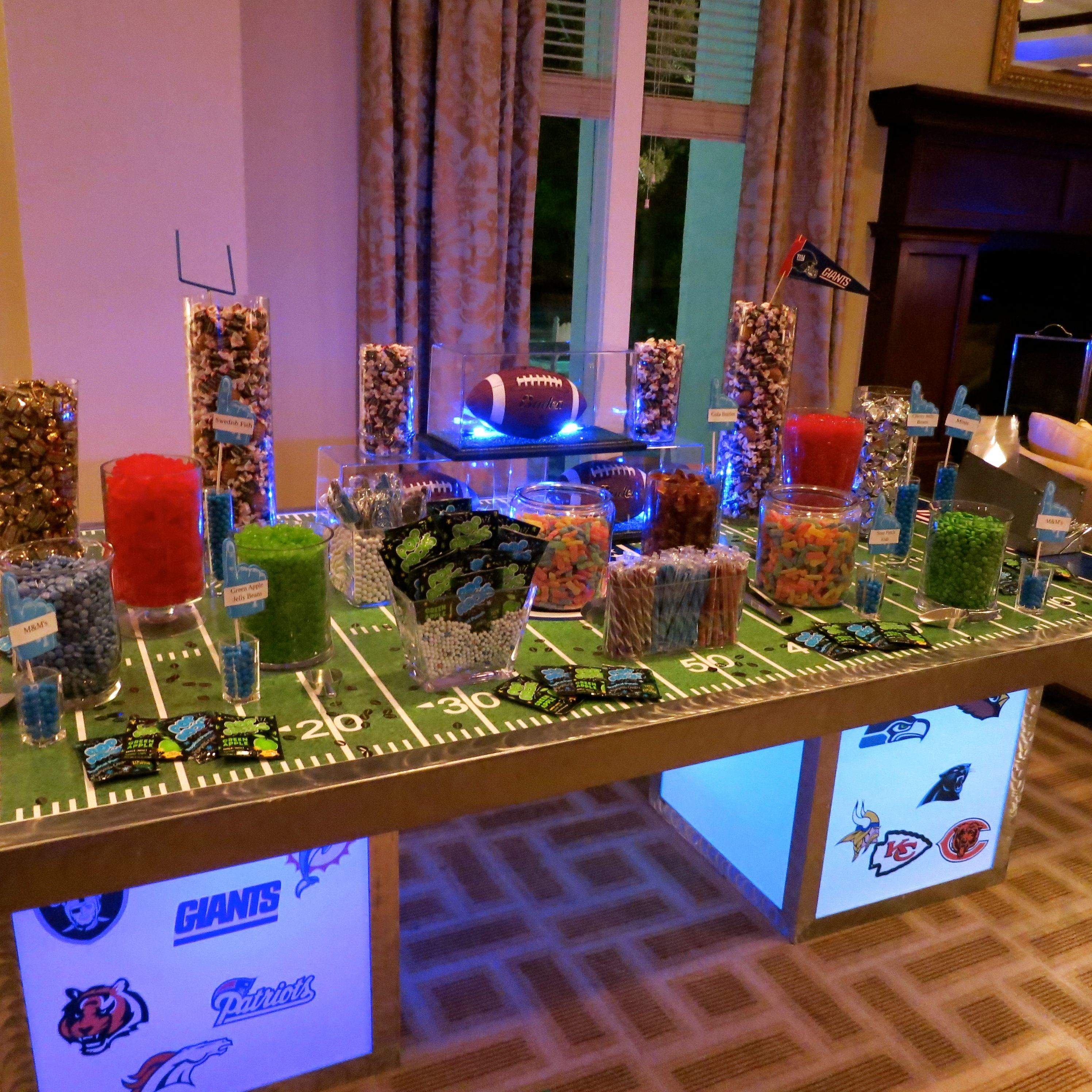 Wedding Website Domain Name Ideas: Football Candy Buffet By Covered In Candy