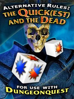 Shop Update: the Quick(est) and the Dead [Dungeonquest] Get back to playing Dungeonquest the way it was intended—for speed and greed! This package contains the three fastest forms of combat ever devised for the game, including those found in any of the commercial editions. No more futzing about with cards and tiles! #dungeonquest, #fantasygames, #boardgames, #games