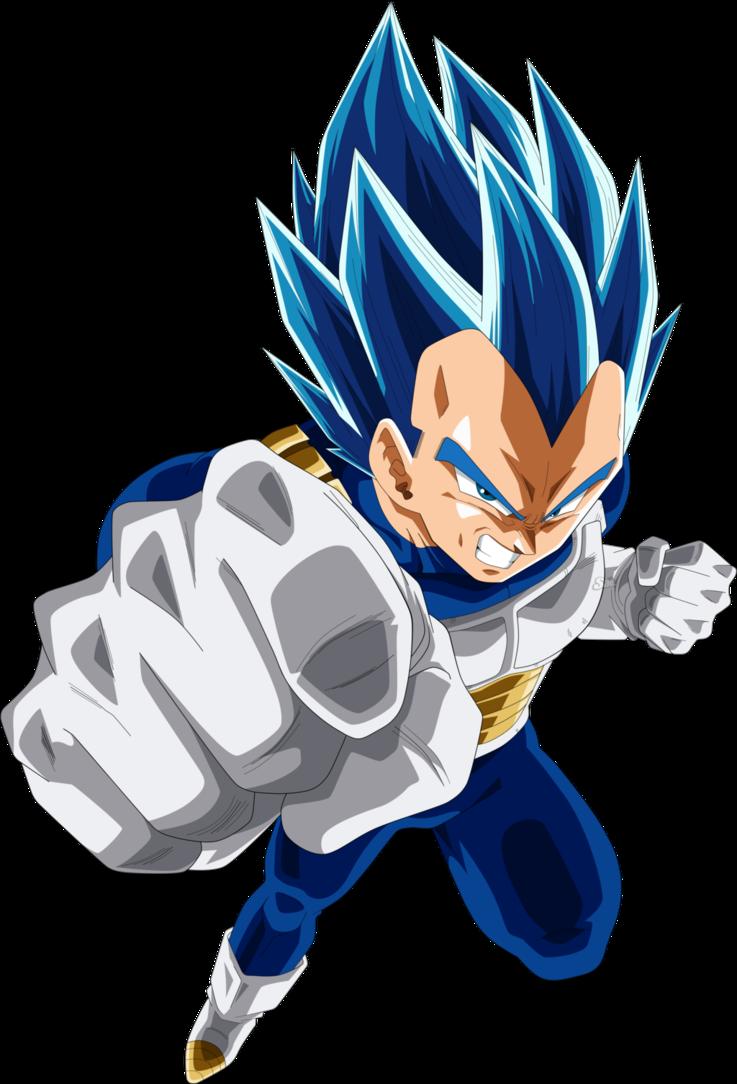 Fan Art Vegeta Blue Dragonballsuper Anime Dessin Goku