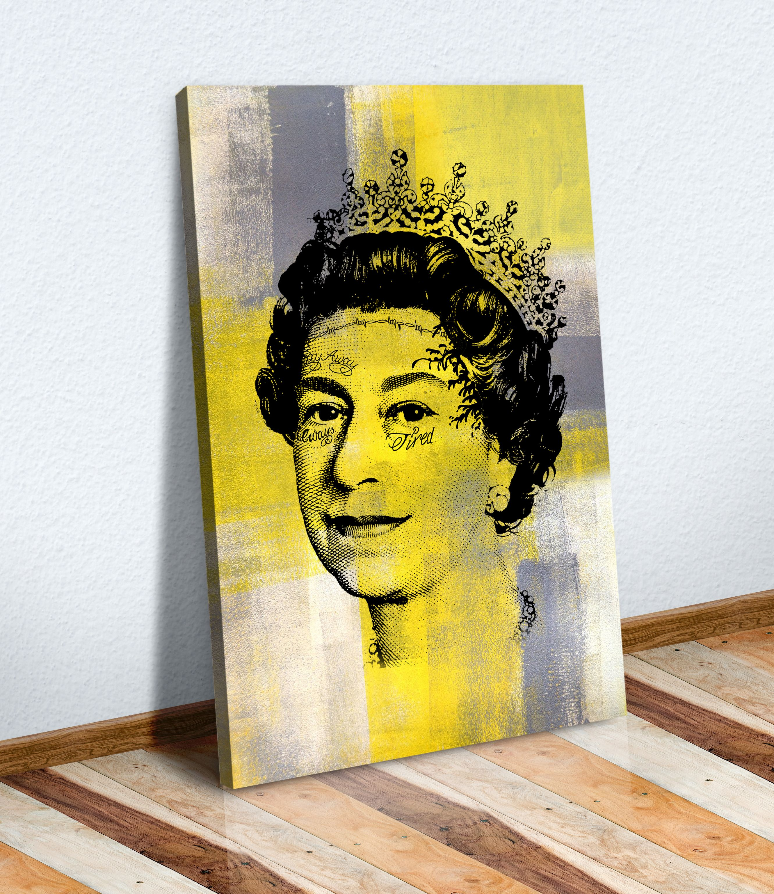 Post malone queen tattoo yellow mustard grey canvas wall