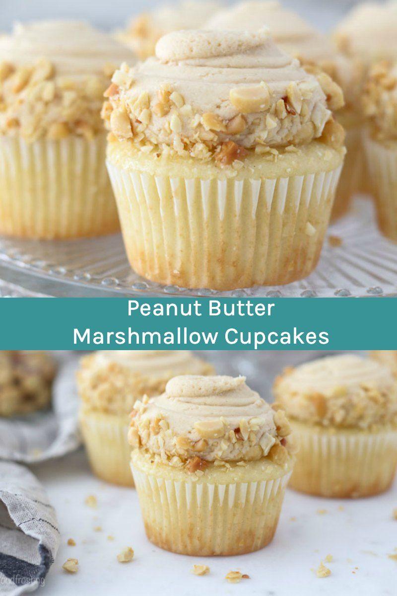 These Peanut Butter Marshmallow Cupcake Are Moist Vanilla Cupcakes