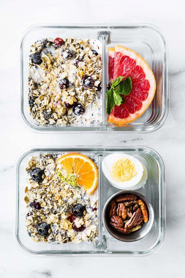 Superfood Overnight Oatmeal Healthy Meal Prep Breakfast