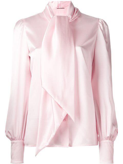 SAINT LAURENT Neck Tie Blouse. #saintlaurent #cloth #blouse