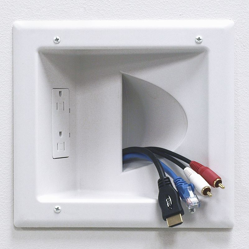hide the wires that go from your home theater system to your rh pinterest com Orb Home Theater Wiring Diagram Home Theater Subwoofer Wiring