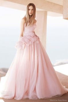 Vera Wang Blush Pink Wedding Dress With Wedding Dress $650